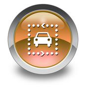 Icon, Button, Pictogram Driving Tour - stock illustration
