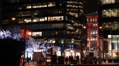 Vancouver downtown, festive illumination Stock Footage
