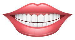 Smile, Lips, Mouth, Teeth Stock Illustration