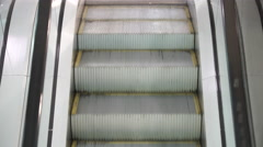 Movement up the escalator Stock Footage