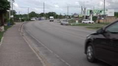 Jamaica coastal highway road traffic 4K Stock Footage