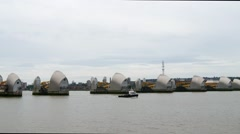 Thames barrier, East London Stock Footage