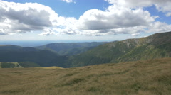 Great view of valleys and mountains on Transalpina Stock Footage