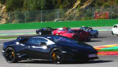 Italian car track day Stock Footage