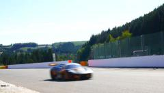 Ferrari F430 GT race car Stock Footage
