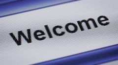 Welcome - stock footage