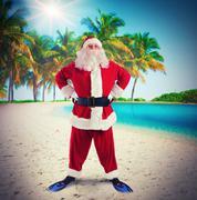 Santa Claus on tropical vacation Kuvituskuvat