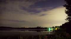 Overnight Timelapse of Lake in Michigan Stock Footage