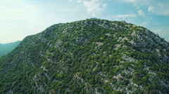 Ston walls aerial Stock Footage