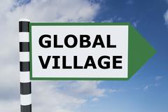 Global Village concept Stock Illustration