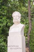 Aristotelis Valaoritis statue in Sintagma Athens. Stock Photos