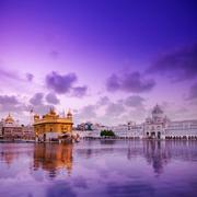 Golden Temple Amritsar in twilight Stock Photos