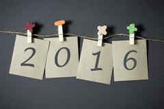 New Year 2016 Kuvituskuvat