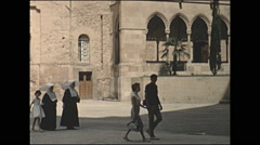 Vintage 16mm film, 1960, Spain, Montserrat, walk about Stock Footage