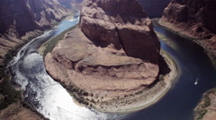 Horseshoe Bend Canyon Arizona Stock Footage
