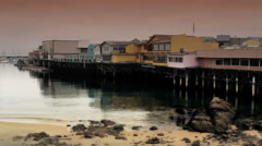 Fishing Pier Monterey Bay Stock Footage