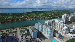 Aerial video Indian Creek Miami Beach Stock Footage