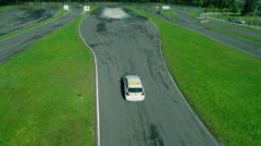 Test drive during on a car track Stock Footage