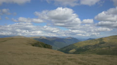 Great view of hills on Transalpina Stock Footage