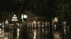 Gastown Night Vancouver Stock Footage