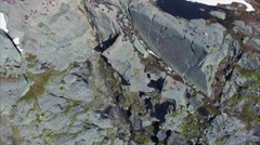 Top-down view of Trolltunga rock in Norway Stock Footage