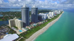 Beach architecture Miami Stock Footage