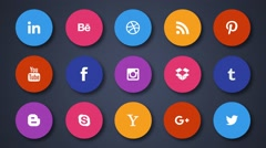 15 Social Icons. Only shapes. Stock After Effects