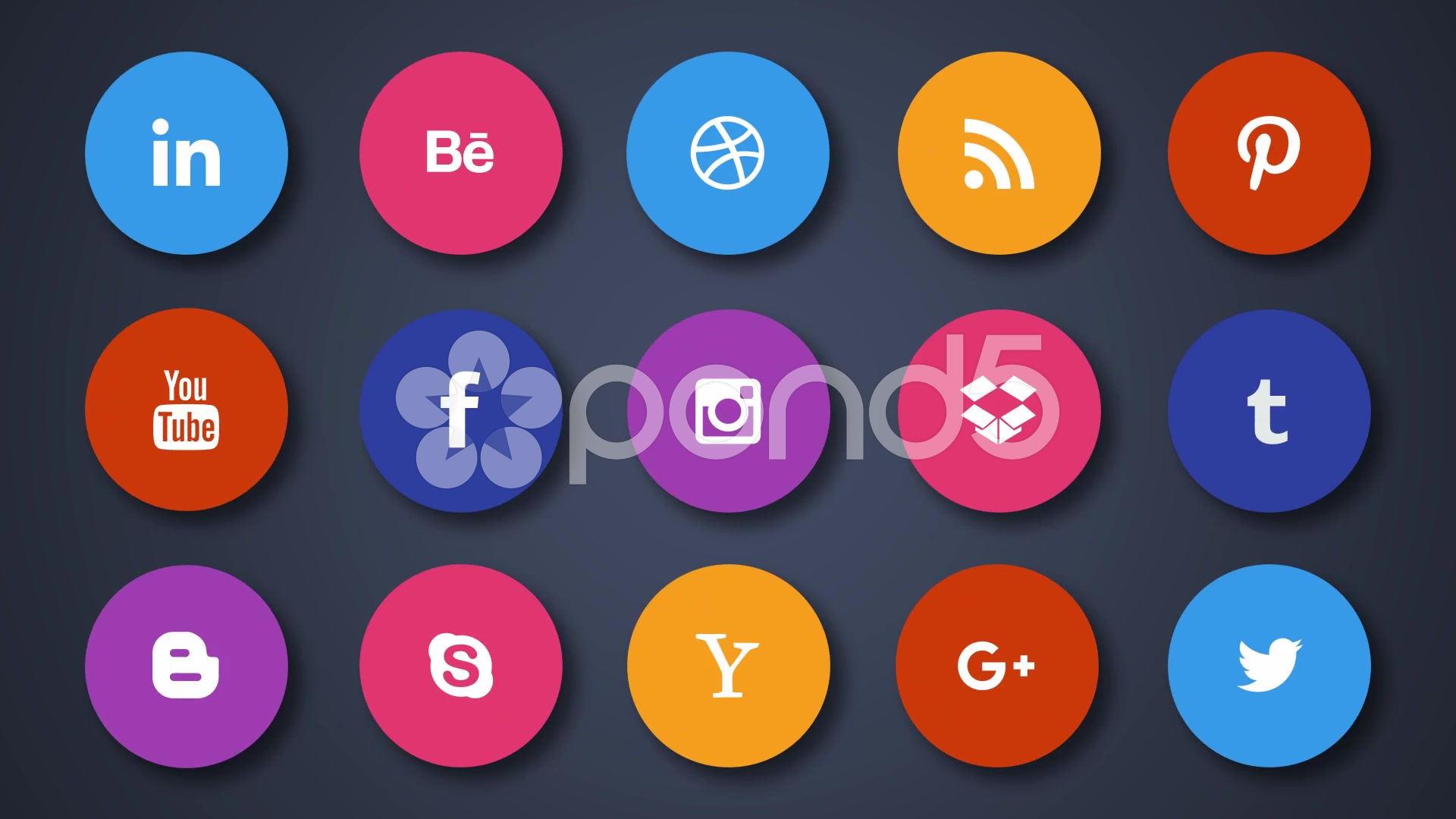 After Effects Project - Pond5 15 Social Icons Only shapes 57799907