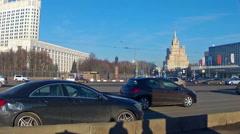 Novoarbatsky bridge, view of the city Stock Footage