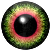 Abstract multicolored eye isolated on white Stock Illustration