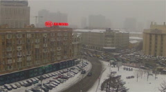 Snow in Moscow Stock Footage