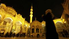 Time-lapse video of a historical mosque in Istanbul Turkey (Editorial) Stock Footage
