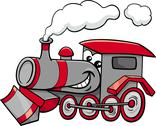 Stock Illustration of steam engine cartoon character