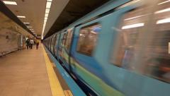 Metro train departing in Istanbul Turkey (Editorial) Arkistovideo