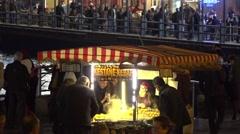 Night scene in Eminonu Istanbul Turkey (Editorial) Stock Footage