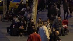 Turkish people in Eminonu square in Istanbul Turkey (Editorial) Arkistovideo
