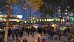 Istanbul city motion defocused Stock Footage