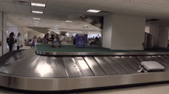 Baggage claim passengers Houston Bush Airport 4K Stock Footage