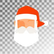 Santa Claus flat icon avatar vector illustration - stock illustration
