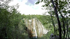 Waterfall at Plitvice National Park, Croatia Stock Footage