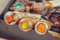 Old Paint tubes Stock Photos
