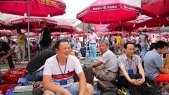 Stock Video Footage of Panjiayuan Flea Market - best Flea market in China, Beijing
