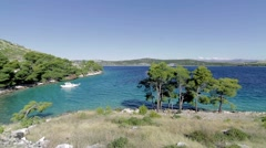 Mediterranean View, Croatia Stock Footage