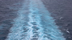 Beautiful Caribbean Ocean cruise ship wake 4K Stock Footage