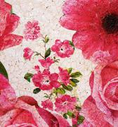 Painted Floral Pattern - stock photo