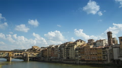 Time lapse of the Arno River Stock Footage