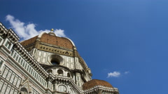 Clouds behind the Dome in Florence Stock Footage