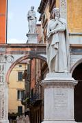 Statue of Dante Alighieri Stock Photos