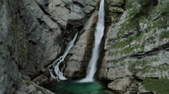 Waterfall at Savica Gorge, Slovenia Stock Footage