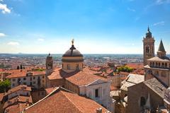 View of Bergamo Alta, Italy Stock Photos